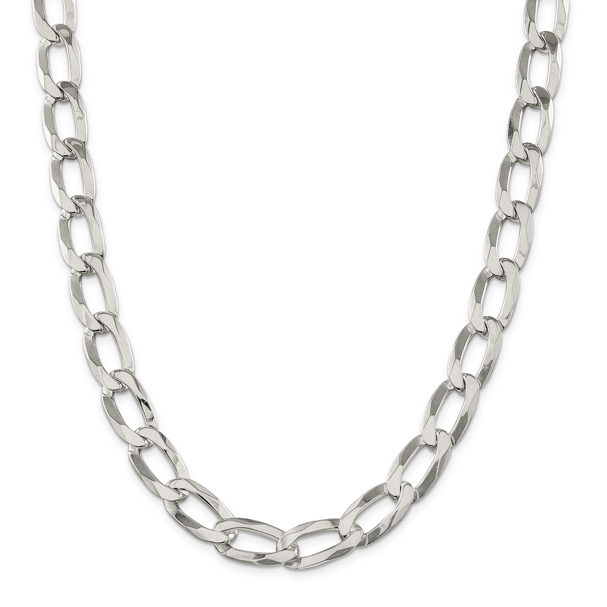 925 Sterling Silver 2mm Elongated Open Link Chain
