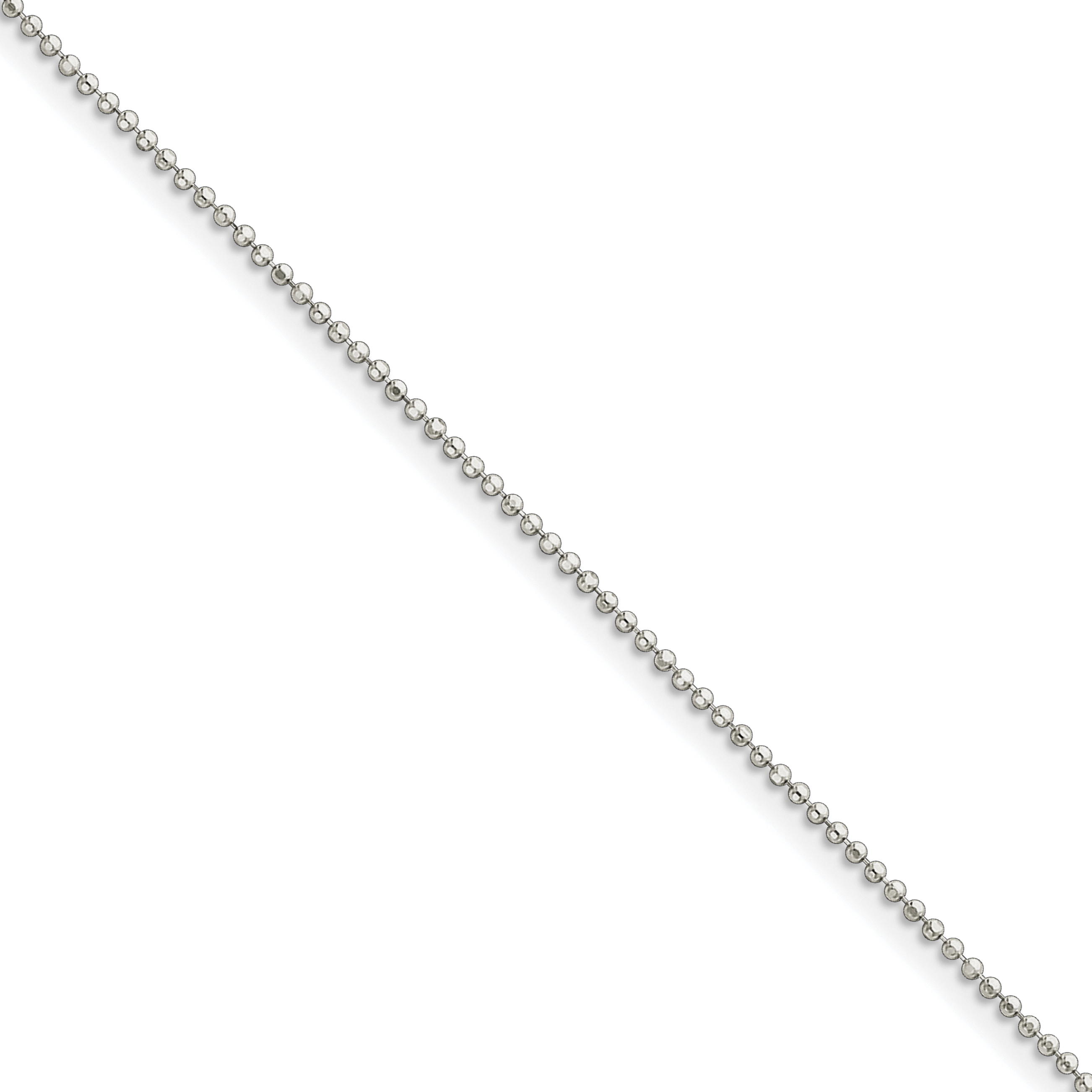 Sterling Silver Polished with 1.5in ext. Anklet | Weight: 1.79 grams, Length: 9mm, Width: mm