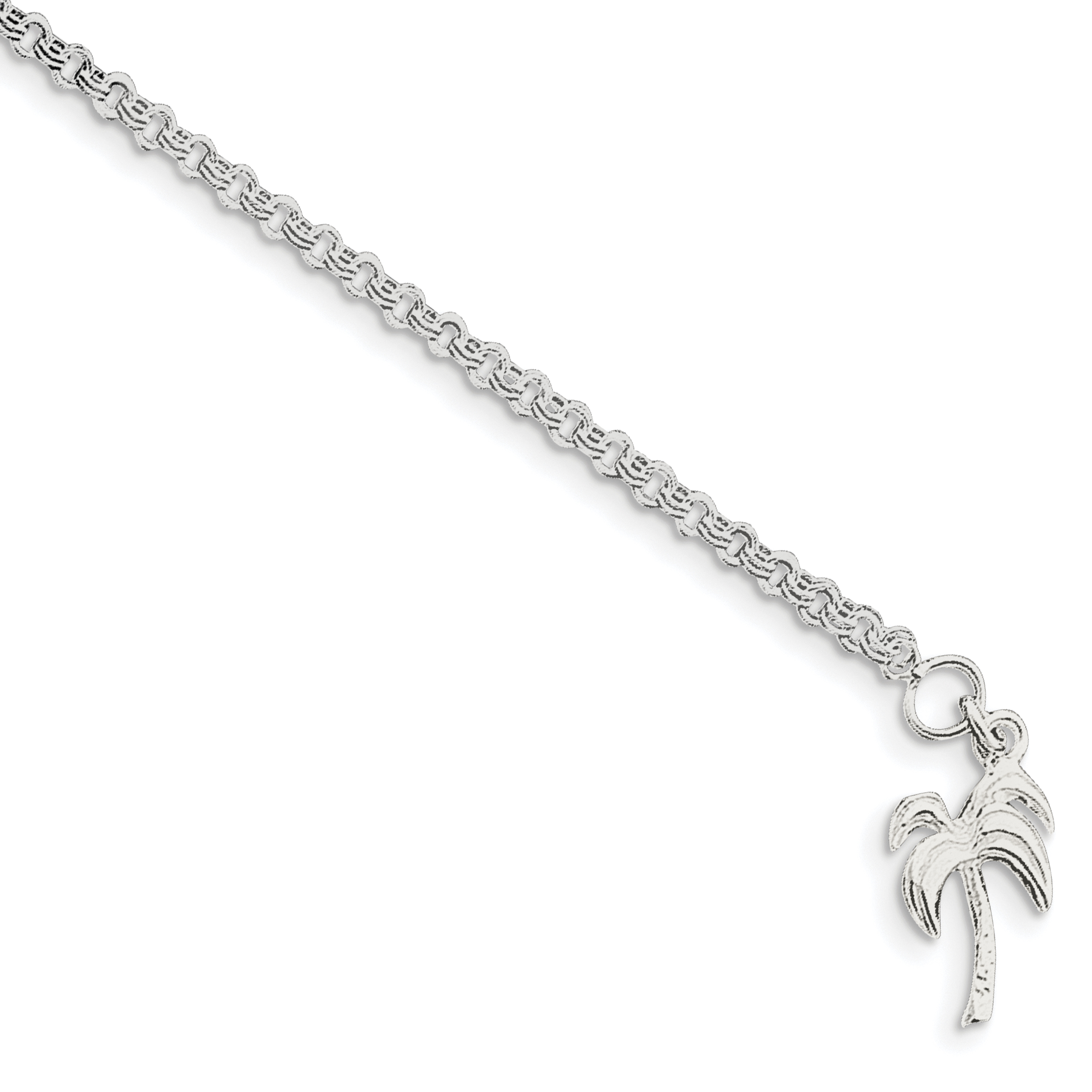 silver uk heart asp chain ankle charm school and anklet p inch sterling chains