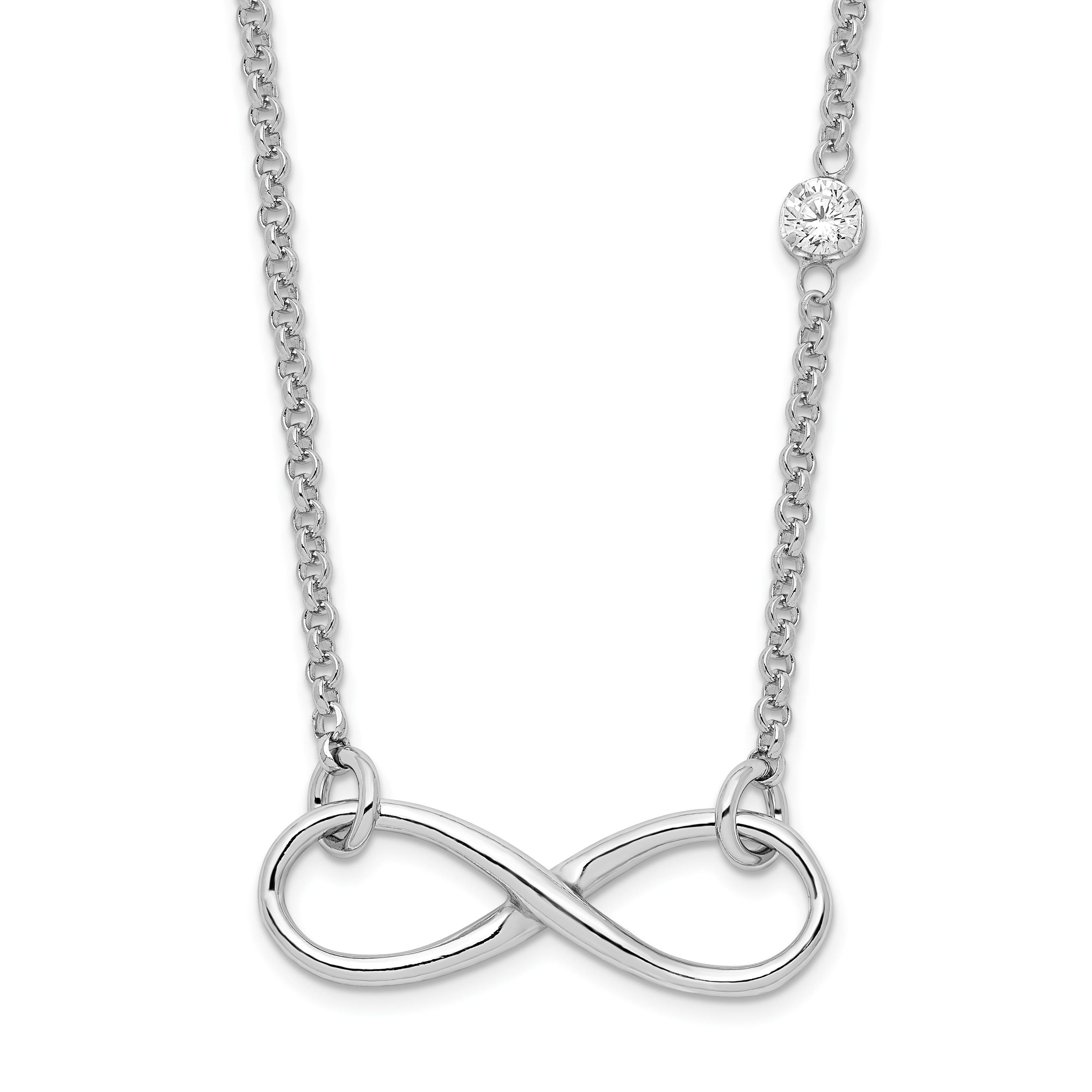 and infinity products symbol white inches necklace cross diamond gold