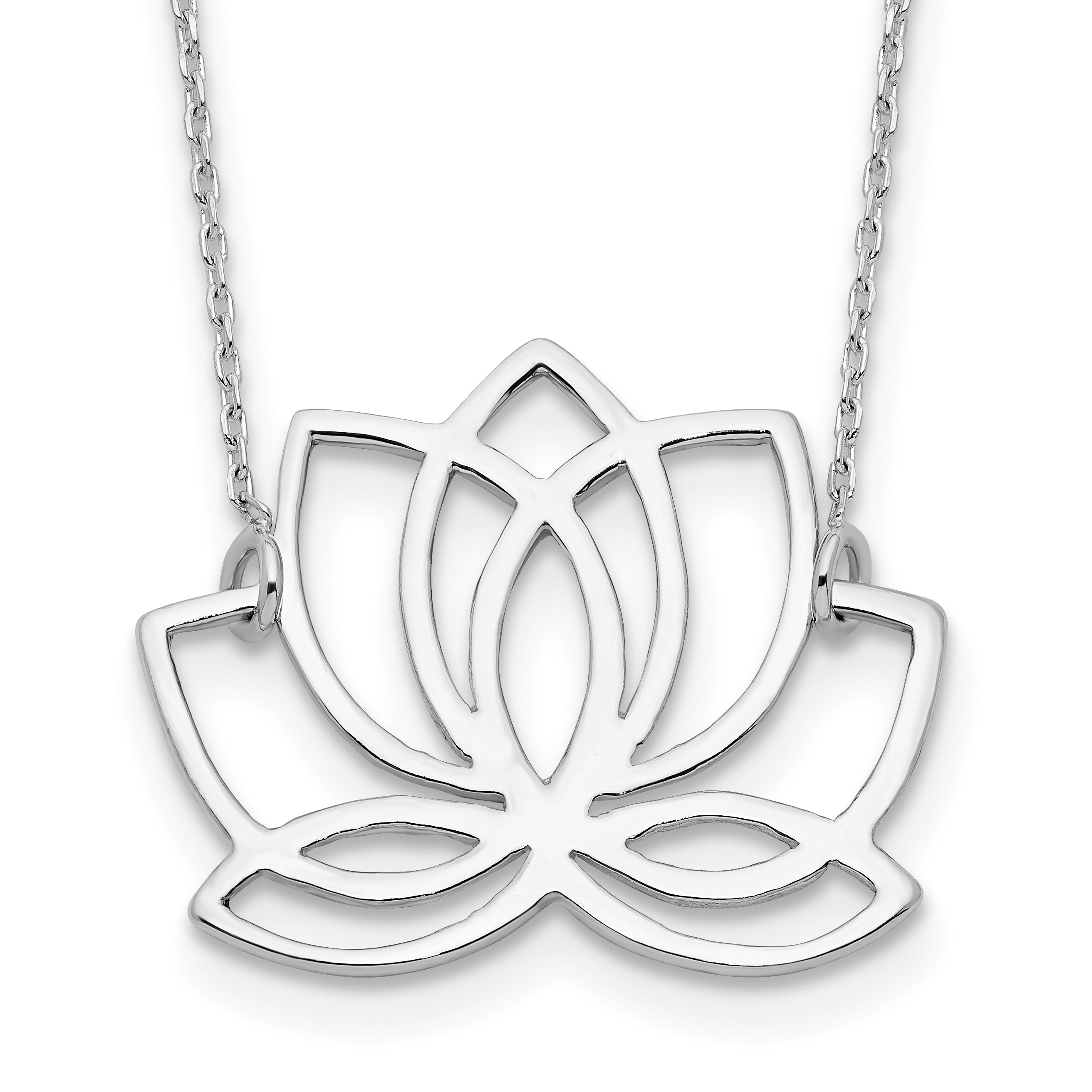 product me siera lotus necklace flower