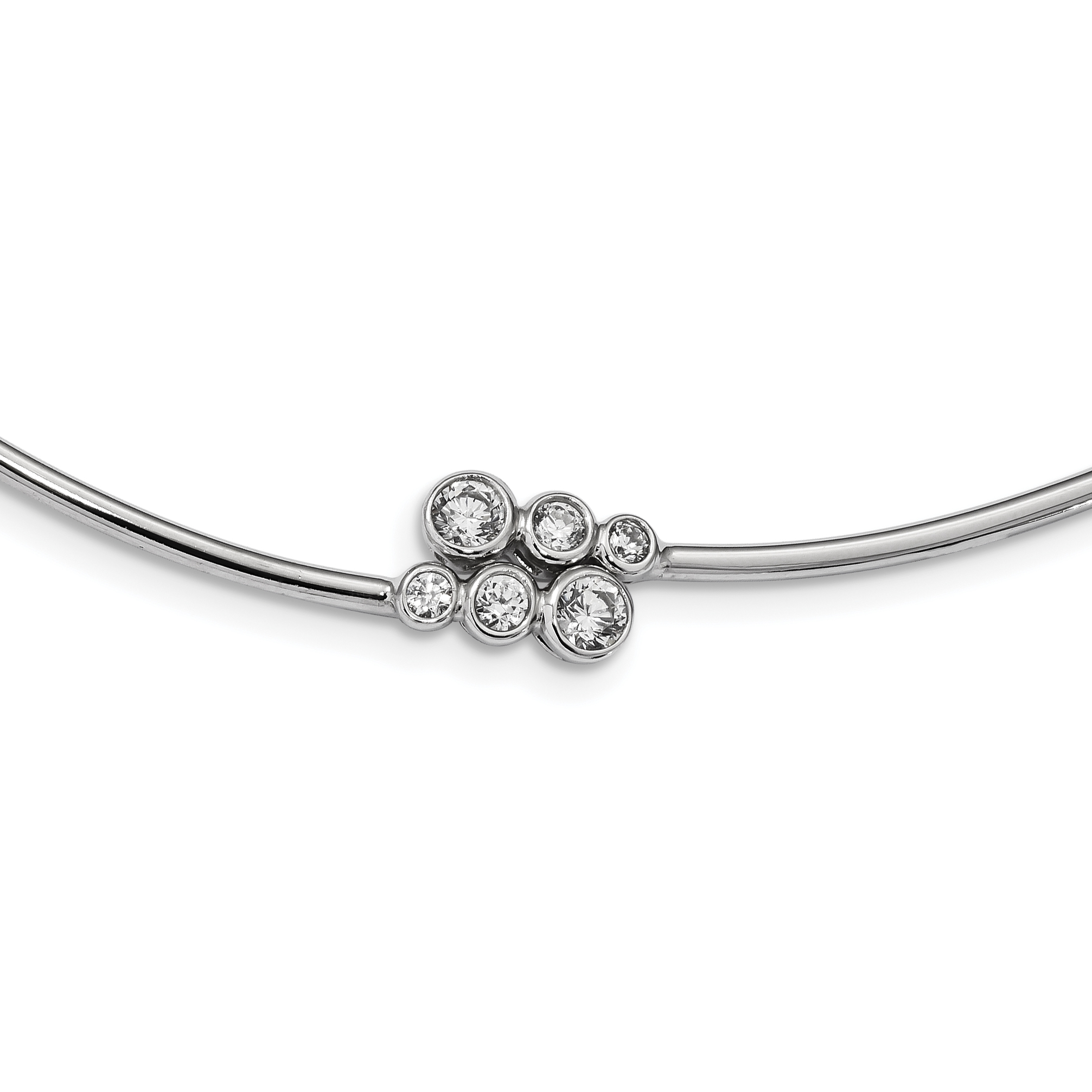 Necklace Jewelry Necklaces Neckwires Leslies Sterling Silver Rhodium-plated Wire with 2in ext