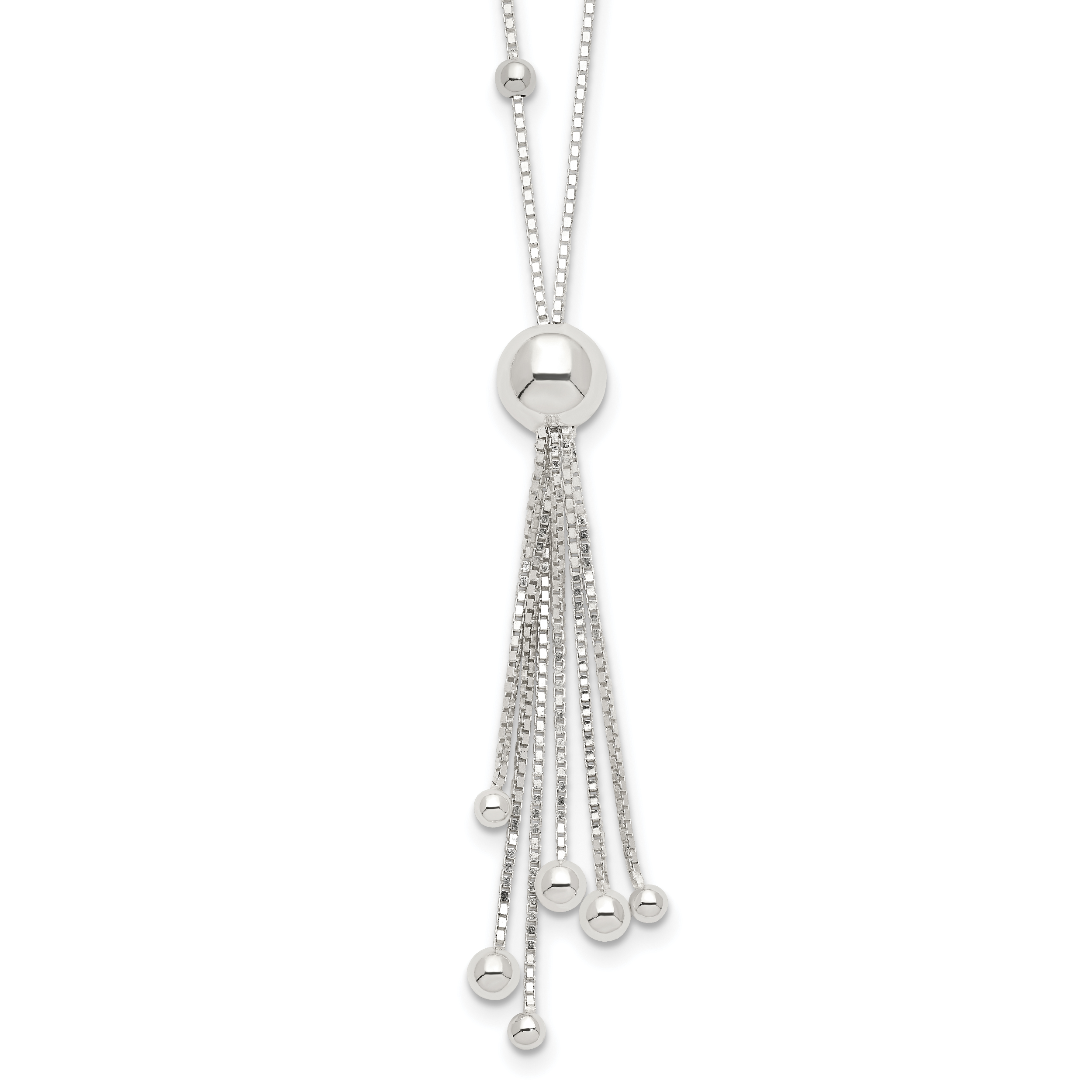 Sterling Silver Necklace | Weight: 3.83 grams, Length: 18mm, Width: mm
