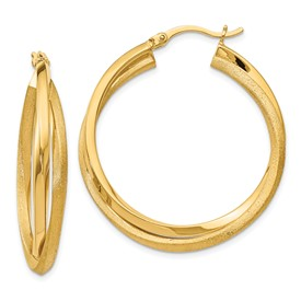 Sterling Silver Radiant Essence Gold-plated Hoop Earrings