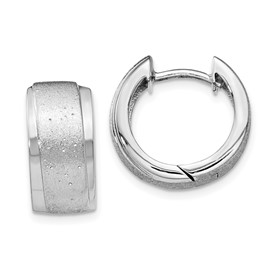 Sterling Silver Radiant Essence Hoop Earrings