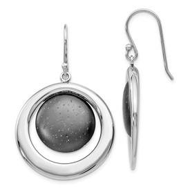 SS Rhodium & Ruthenium-plated Radiant Essence Earrings
