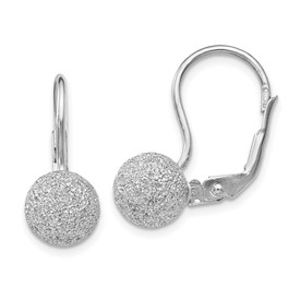 SS Radiant Essence Rhodium-plated Leverback Earrings