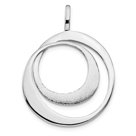 Sterling Silver Radiant Essence Polished Textured Pendant