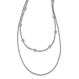 Sterling Silver Polished w/4 in ext. Choker Necklace