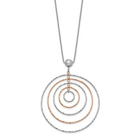 Sterling Silver Rose Gold-Plated D/C w/ 1in ext Necklace