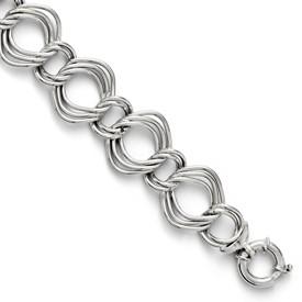 Sterling Silver Triple Link Bracelet
