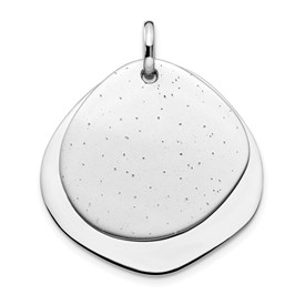 Sterling Silver Rhodium-plated Radiant Essence Pendant