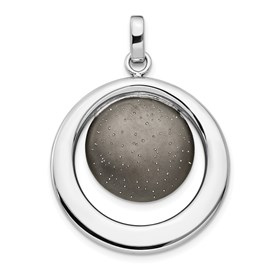 Sterling Silver Rhod & Ruthenium Radiant Essence Pendant