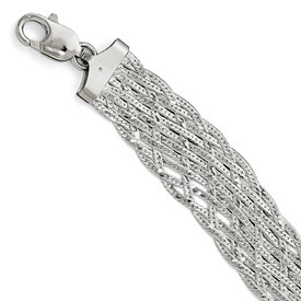 Sterling Silver Polished Braided Bracelet