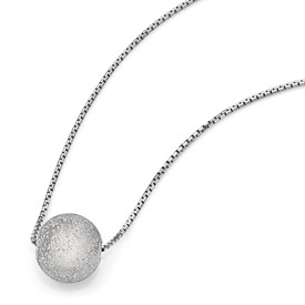 SS Radiant Essence Rhodium-plated Necklace w/2in ext