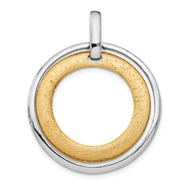 Sterling Silver Gold-tone Flash 24k Plated Pendant