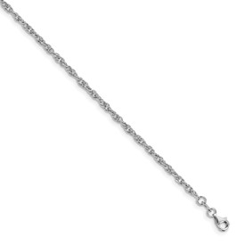 Sterling Silver Fancy Chain Anklet