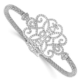 Sterling Silver CZ Polished Bracelet