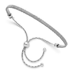 Sterling Silver Polished Twisted Adjustable Bracelet