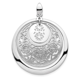 Sterling Silver Polished and Brushed Pendant