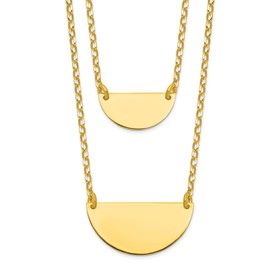 Sterling Silver Gold-tone w/1in ext. Necklace