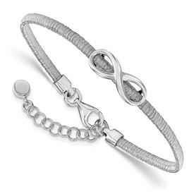 Sterling Silver infinity w/1in ext. Bracelet