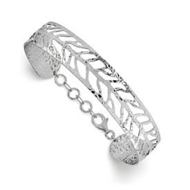 SS Rhodium Plated Fancy Bangle