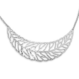SS Rhodium Plated Fancy Necklace