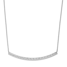 Sterling Silver Bar w/ 2in ext. Necklace