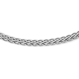 Sterling Silver Flat D/C Spiga Necklace