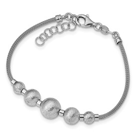 Sterling Silver Polished & Brushed Bracelet