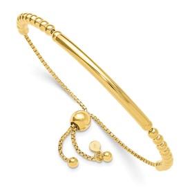 Sterling Silver Gold-plated Beaded Adjustable Bracelet