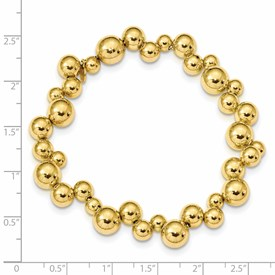 Sterling Silver Gold-plated Beaded Magnetic Clasp Bracelet