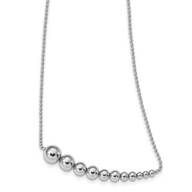 Sterling Silver Polished w/2 in ext Fancy Necklace