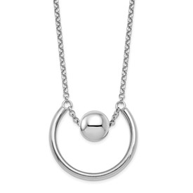 Sterling Silver Polished Fancy Necklace