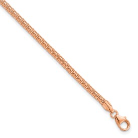 Sterling Silver Rose Gold Plated Fancy Bracelet