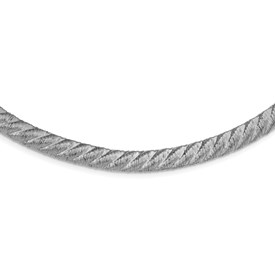 Sterling Silver Textured Mesh Necklace