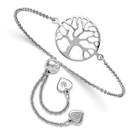 Sterling Silver Tree of Life Adjustable Bracelet