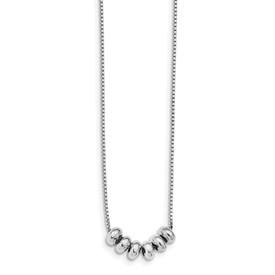 Sterling Silver Polished Adjustable Necklace