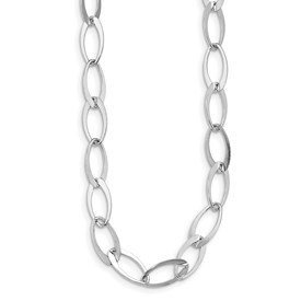Sterling Silver Polished Fancy Link Adjustable Necklace