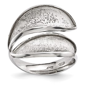Radiant Essence Adjustable Sterling Silver Textured Ring