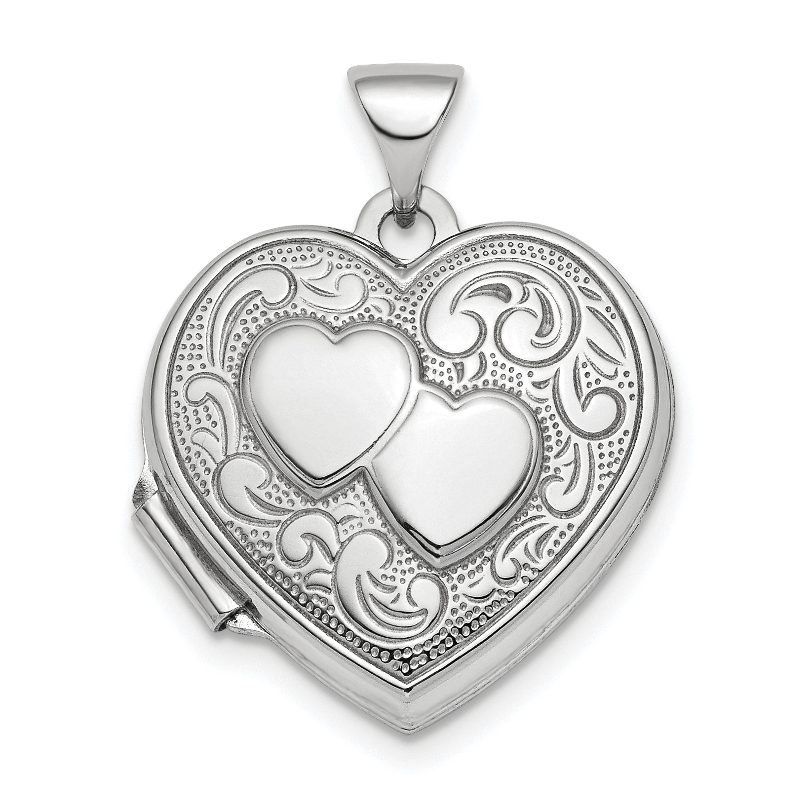 pmr open wing lockets feather heart inch jewelry angel locket pendant bling sterling necklace silver