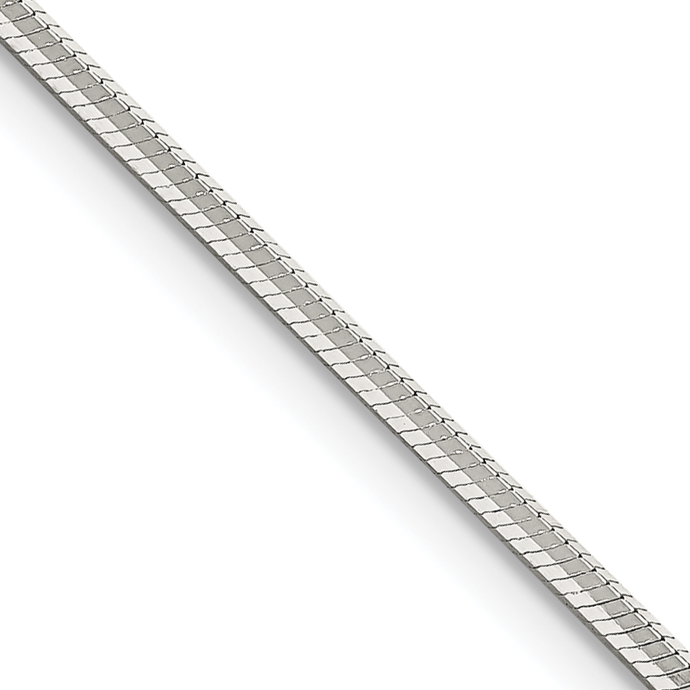 Sterling Silver 24 Inch 1.65mm Octagonal Snake Chain
