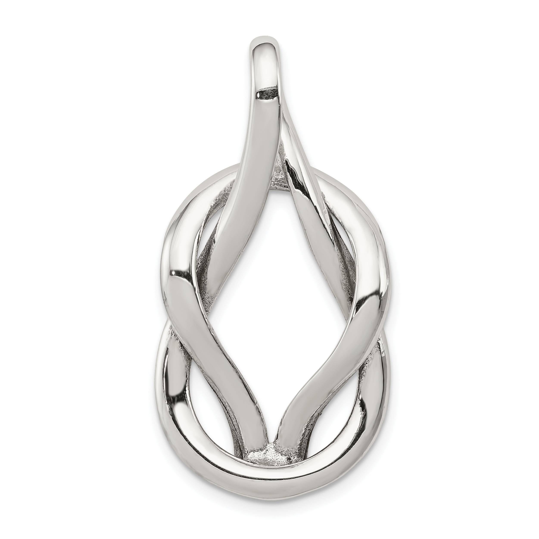 Sterling Silver Jewelry Pendants /& Charms 22 mm 28 mm Black CZ Heart Teardrop Slide