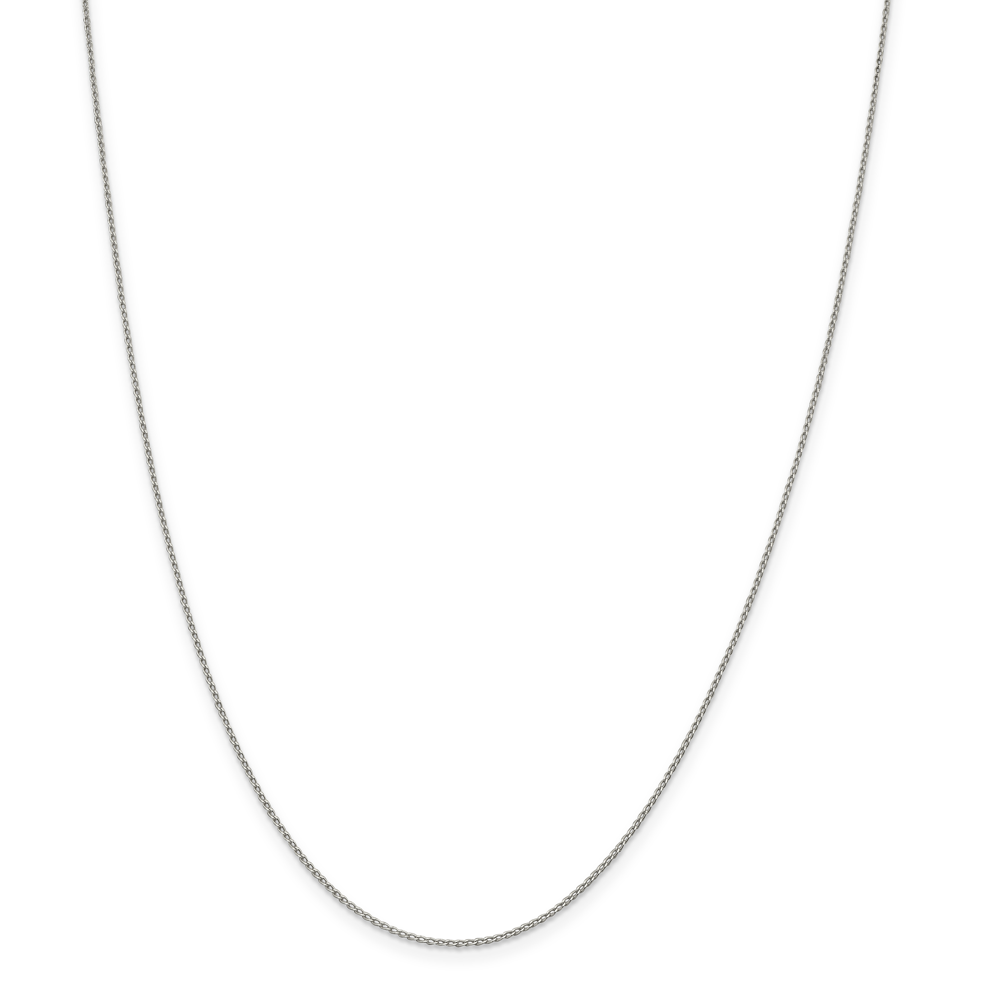 Sterling Silver 1.00mm Open Link Curb Chain | Weight: 0.68 grams, Length: 10mm, Width: 1mm
