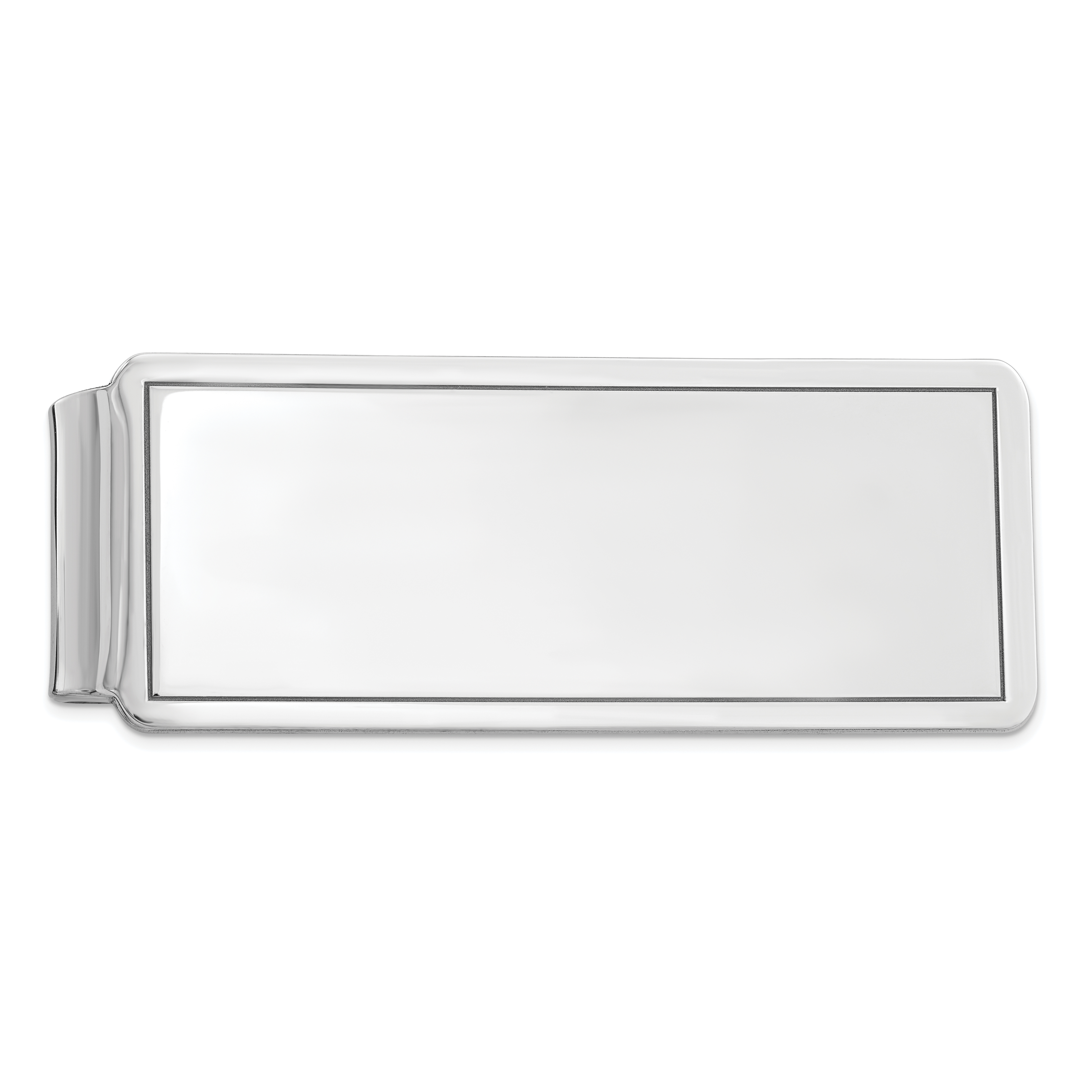Stainless Steel Brushed and Polished Black IP-Plated Money Clip
