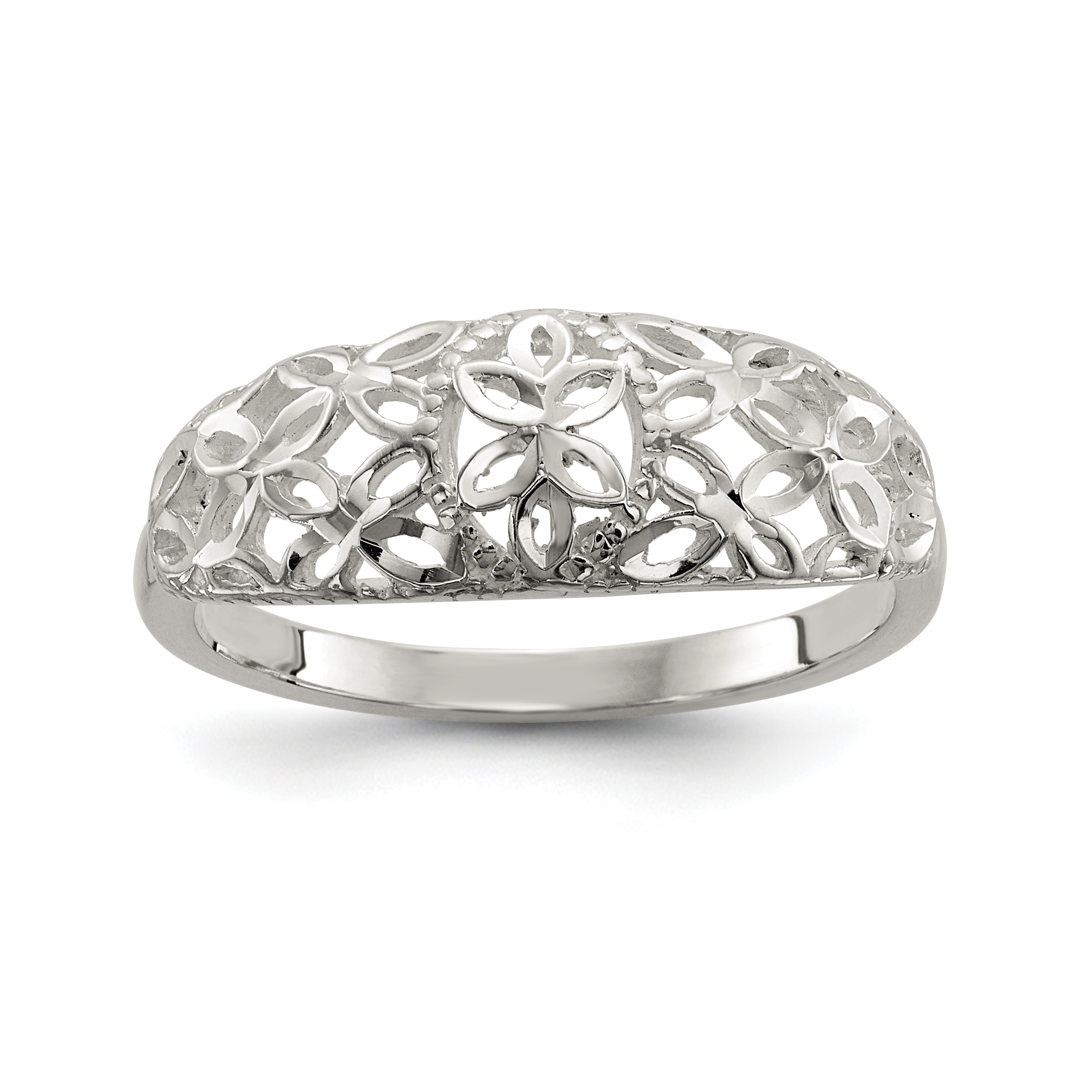 diamond filigree sterling ct bands band ring in silver ebay itm