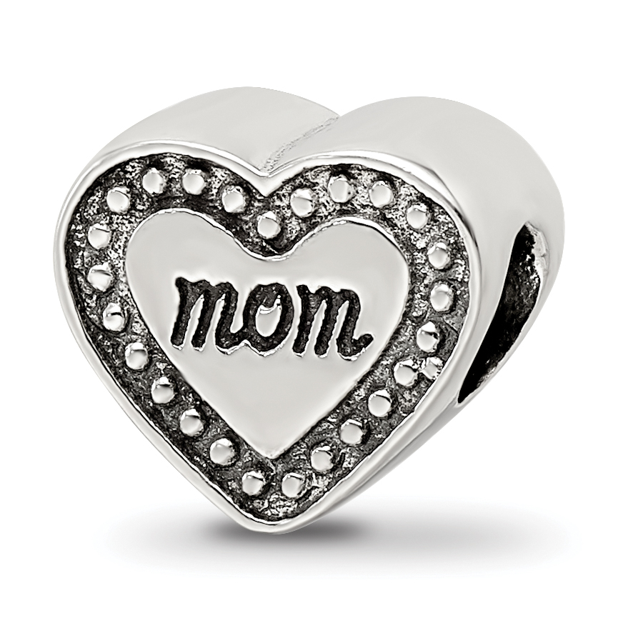 Reflections Sterling Silver Dad Mom /& Baby Footprints Bead