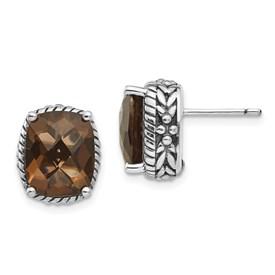 Sterling Silver Smoky Quartz Earrings