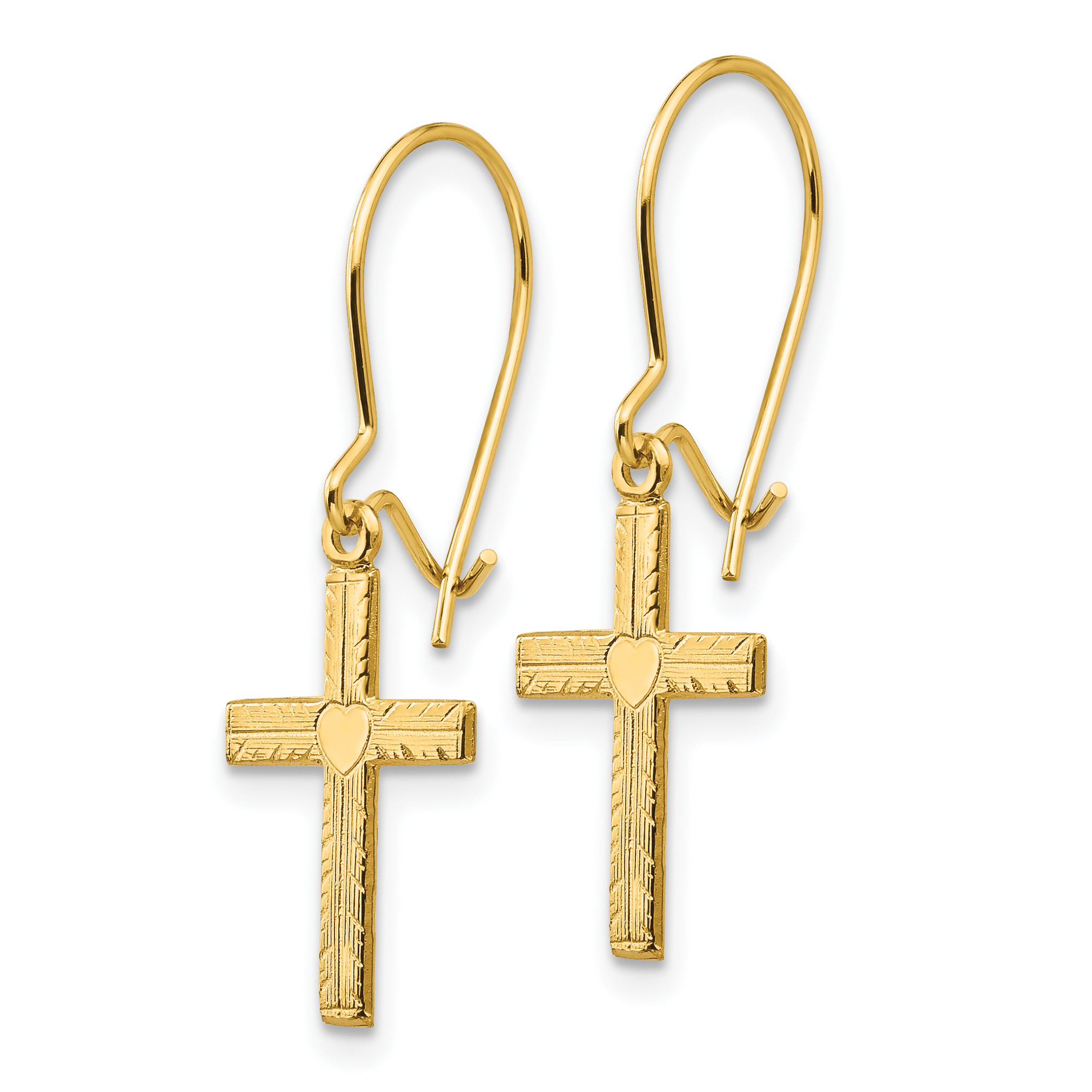 1.5 Height 14k Gold Polished Fancy Teardrop Drop and Dangle Jackets for Stud Earrings